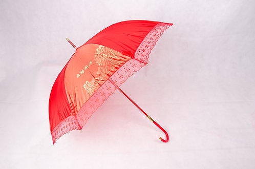 蕾丝花边新娘红伞 Wedding Red Lace Umbrella