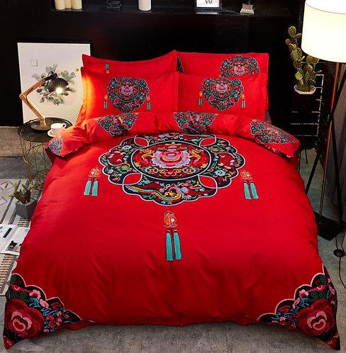 结婚安床用品 床单套装