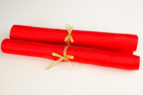 结婚红布红绸布 Red Silk Cloth (一对/one pair)