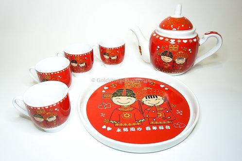 中式夫妻敬茶茶套 Wedding Ceramic Tea Sets