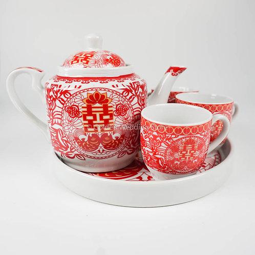 敬茶茶具套装F2 Wedding Ceramic Tea Sets