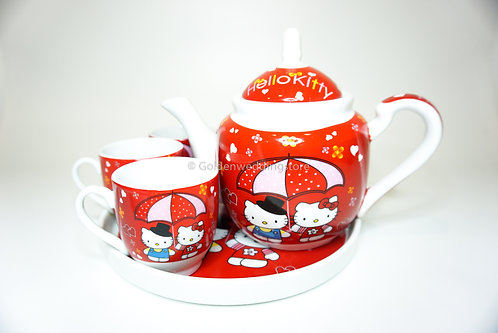 Hello Kitty婚庆陶瓷敬茶茶具套装 Wedding Ceramic Tea Sets