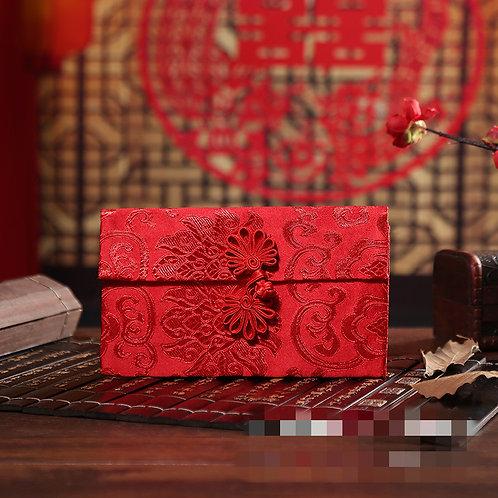 中国风万元锦缎豪华红包布袋(小) Luxury Red Money Bag (Small)