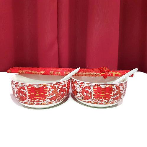 碗筷套装(龙凤)Wedding Dining Set Return Betrothal Gifts