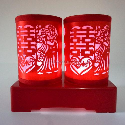Chinese Wedding Battery LED Lamp 结婚LED电池灯(L5)