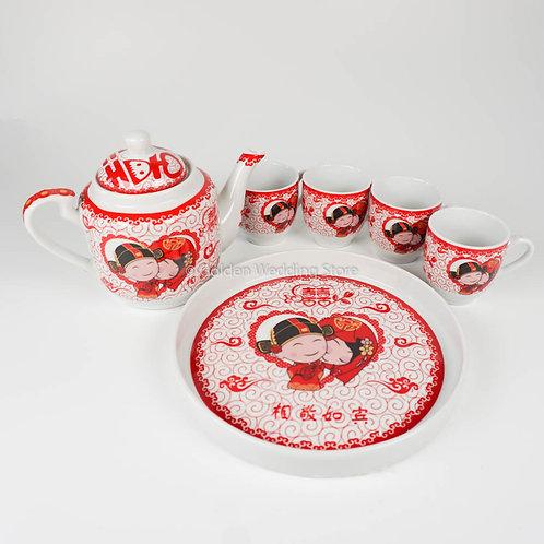 敬茶茶具套装T2 Wedding Ceramic Tea Sets