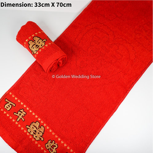 Wedding Face Towel (Bai Nian Hao He) 面巾 百年好合