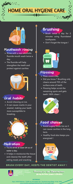 Home oral hygiene