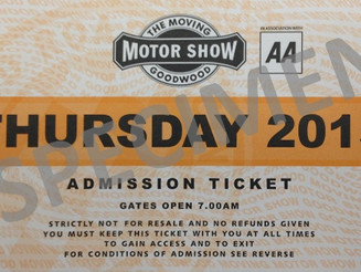 Invitations to Goodwood Festival of Speed 2015