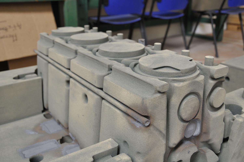 Noyau sable imprimé en 3D