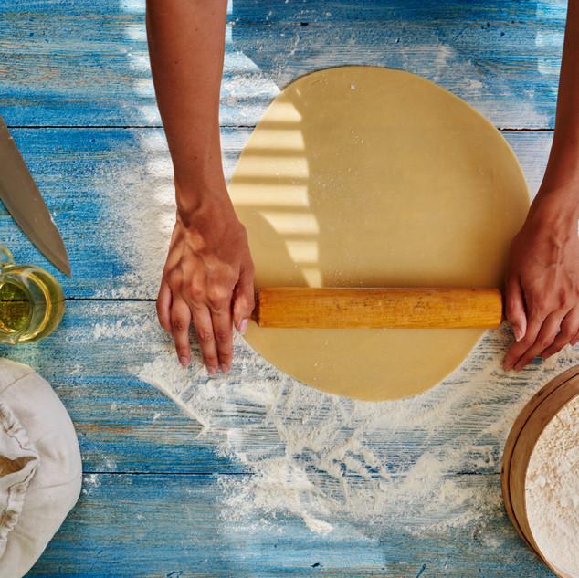 Cook in a trendy Italian restaurant roll