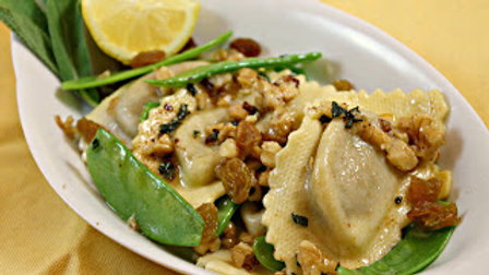 Hausgemachte Pasta: Agnolotti mit Gorgonzola Füllung