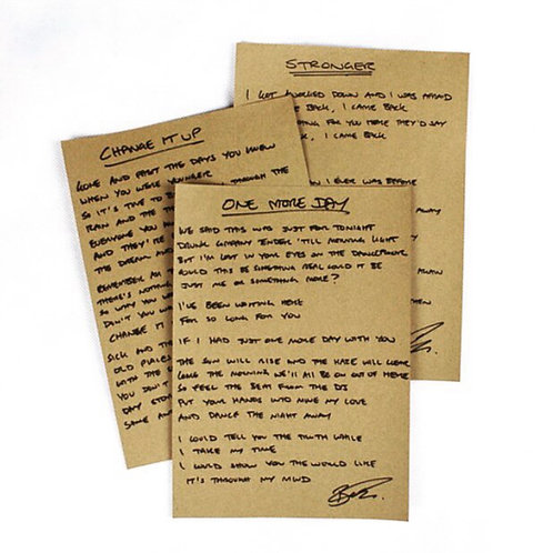 Signed Lyrics