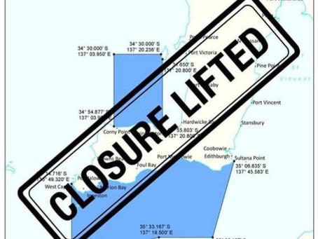 SA Whiting Closure Lifted!