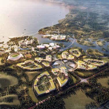 三亚海棠湾椰子洲大学城概念规划