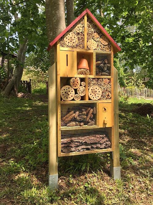 """Hôtel à Insectes Colonne - """"Taille XL"""" (125x50) cm"""
