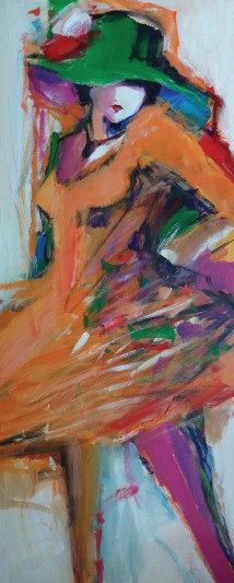 """126. Koraljka Beker, """"Djevojka u narančastom"""""""