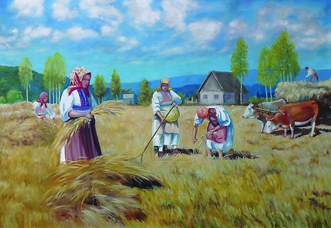 "24. Adonis Dokuzović, ""Žetva"", 39,5x57,5 cm"