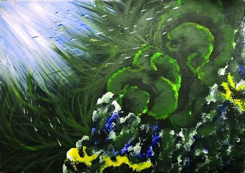 """62. Marija Tomić, """"Unter dem Meer"""" 40x56 cm"""