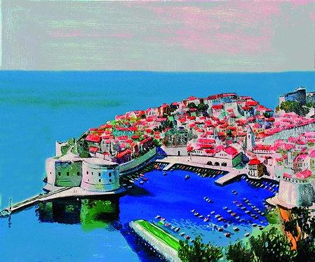 "2. Nenad Marasović, ""Dubrovnik"", 40x48 cm"