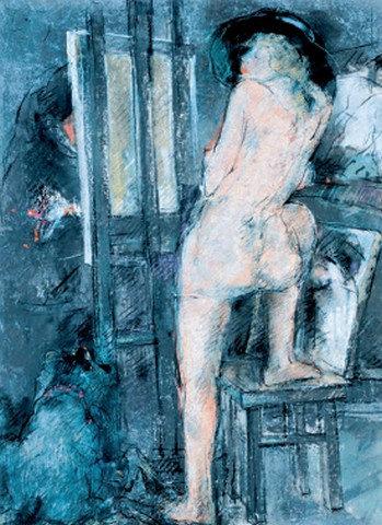 """120. Luj Pintarić, """"Das Atelier"""" , 54x40 cm"""