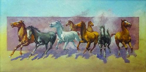 """54. Mladen Legin, """"Within a Gallop"""", 31,5x63,5 cm"""