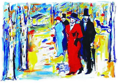 """68. Koraljka Beker, """"The Stroll"""" , 37x56 cm"""