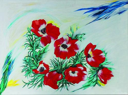 """33. Marija Tomić, """"Flowers"""", 38x51 cm"""