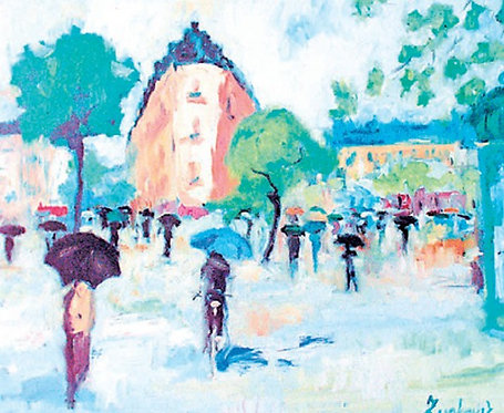 "87. Ivica Zupković, ""Der Frühlingsregen"", 40x60 cm"
