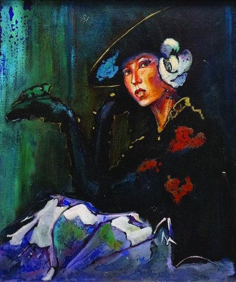 "47. Stjepan Đukić Pišta, ""Die Erwartung"" 48 x 40cm"