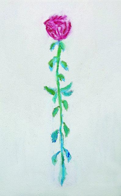 """37.Katarina Došilović, """"Cvijet"""", 60x37 cm"""