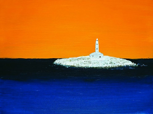 "115. Denis Petrovčić, ""Lighthouse"", 40x53 cm"