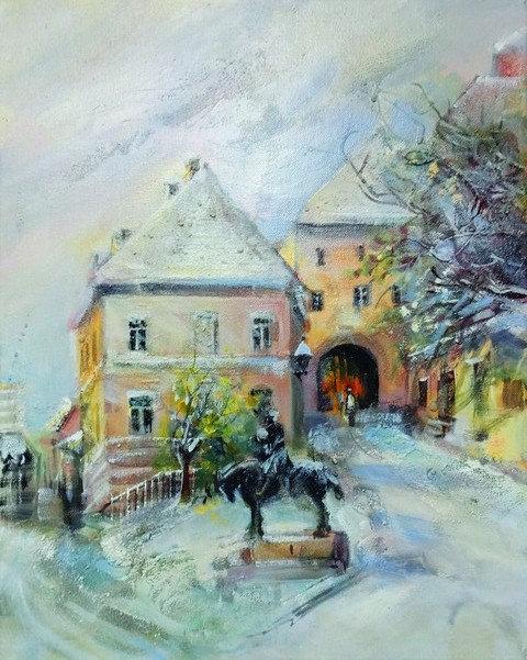 "72. Zorica Turkalj, ""Kamenita vrata"", 47,5x38 cm"