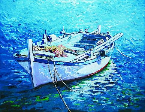 """113. Ivan Vlašić, """"Barge"""", 40x51,5 cm"""