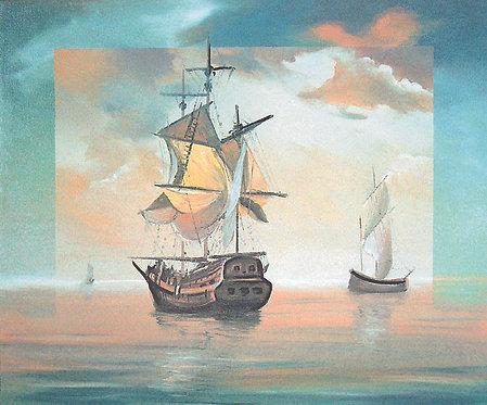 "123. Nenad Marasović, ""Die Segelschiffe"", 40x49 cm"