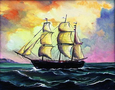 "19. Nenad Marasović, ""Sailboat"", 40x50,5cm"