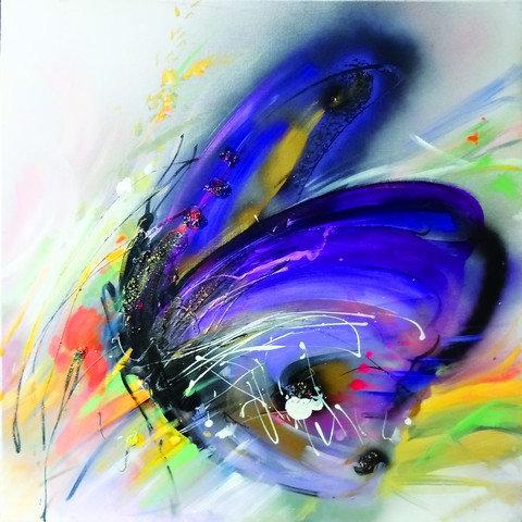 """40. Zorica Turkalj, """"Der violette Schmetterling"""""""