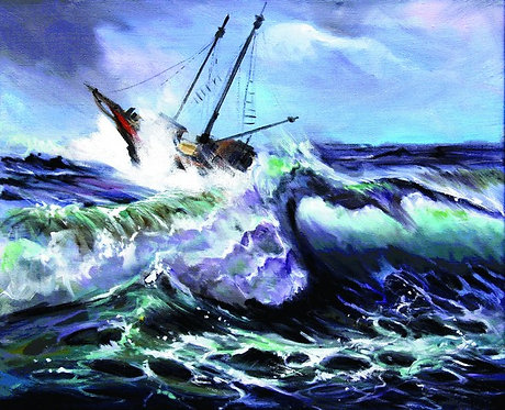"""88. Nenad Marasović, """"In the Storm"""", 40x49,5 cm"""