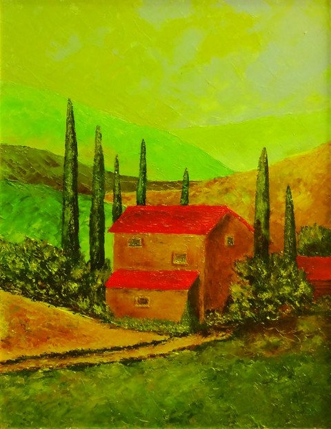 "108. Siniša Križanec ""Peaceful Scenery, 51,5x40 cm"