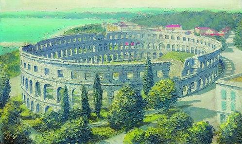"""36. Mladen Legin, """"Arena Pula"""", 36x60 cm"""