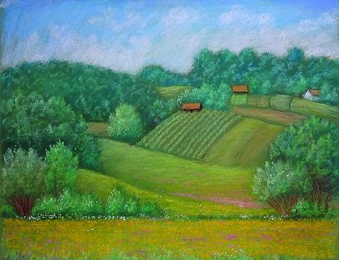 "67. Josip Rubes, ""Proljetni pejzaž"" , 40 x 52 cm"
