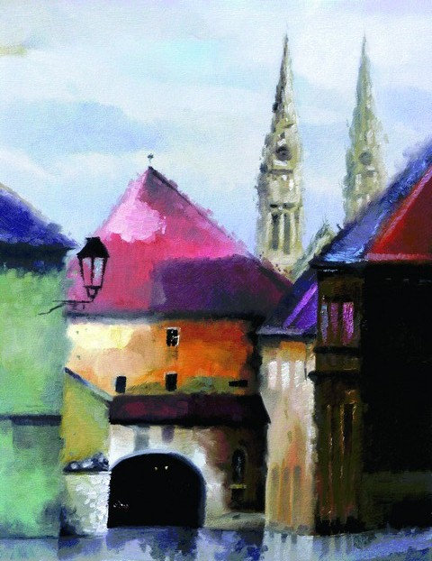 "49. Nenad Marasović, ""Kamenita vrata"", 51,5x40 cm"