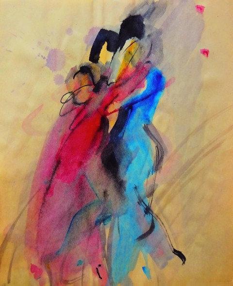 "21. Nina Bell, ""Ples"", 49,5x40 cm"