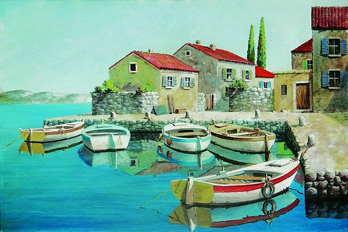 "124. Mladen Legin, ""In the Harbor"", 40x60 cm"