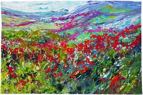 """43. Blaženka Zvonković, """"The Poppy Fiel"""", 39x59 cm"""