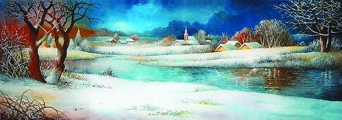 "119. Miro Pintar, ""Winter Landscape"", 18x51 cm"