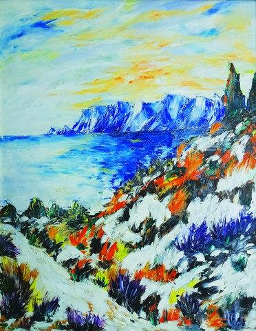 "79. Marija Tomić, ""The Cove"", 51,5x40 cm"