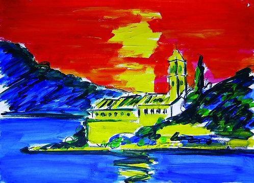 """11. Branimir Čilić, """"Die Insel Lopud"""", 40x55,5 cm"""