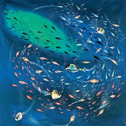 """118. Nenad Marasović """"Die Welt der Fische"""" 40x40cm"""
