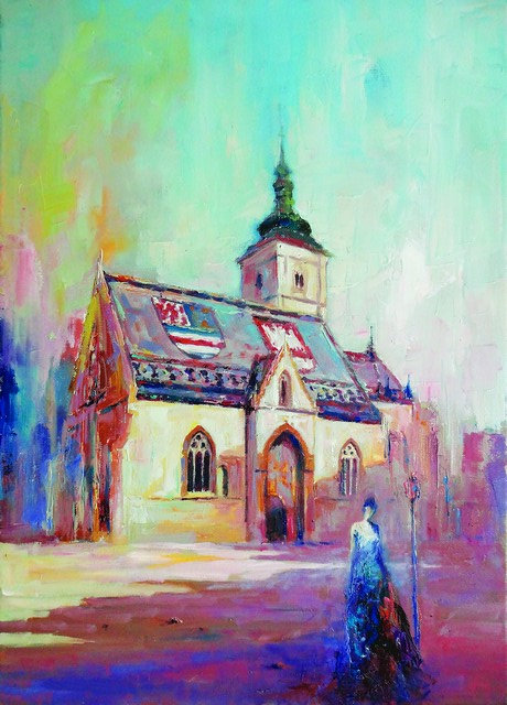 "25. Ivica Petraš, ""St.Mark's Church"", 55,5x40 cm"